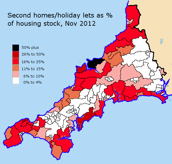 Second homes and holiday lets accounted for between a third and a half of the growth in houses from 2001-11