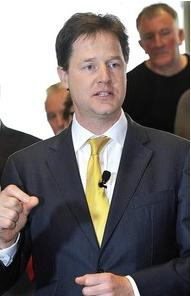 Clegg preaches austerity at Eden Project (cost to taxpayers £squillions and rising)