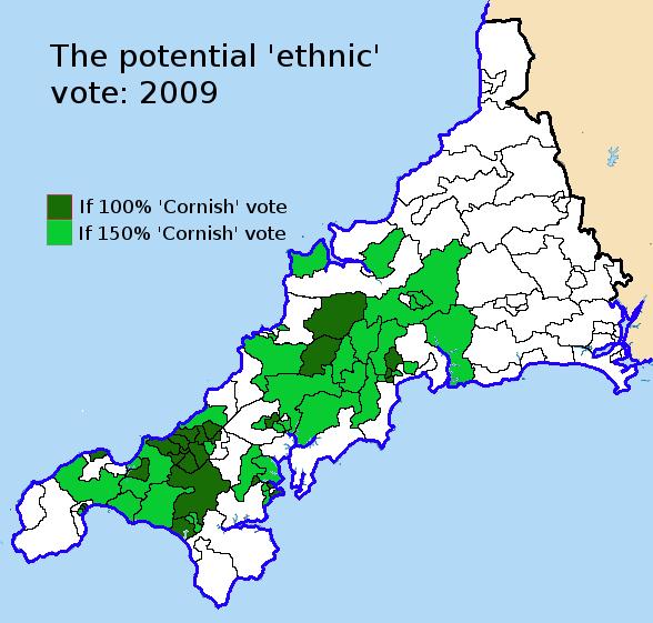 if 1.5 x 'Cornish' voted MK 2009