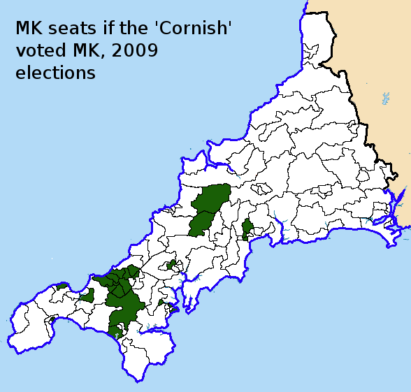 if the 'Cornish' voted MK 2009