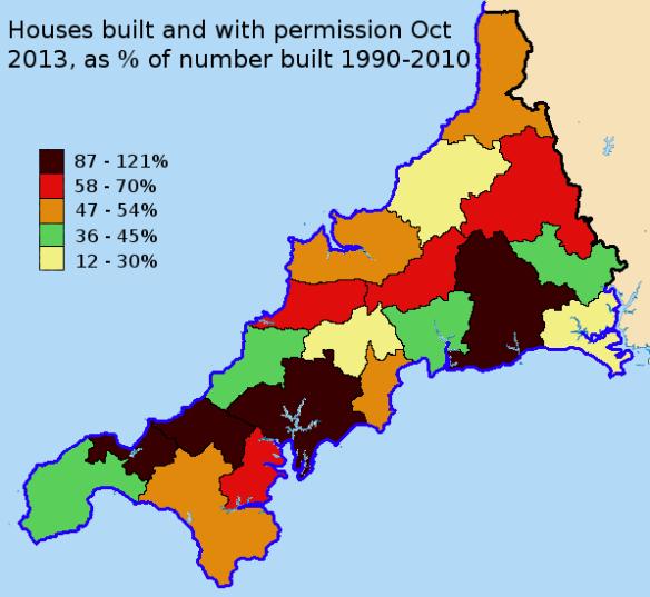 permissions as % of last 20 yrs