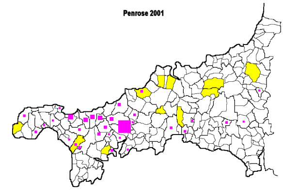 Which of the 11 places called Penrose do Penroses hail from originally?